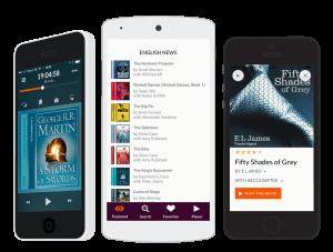 Storytels apps gränssnitt